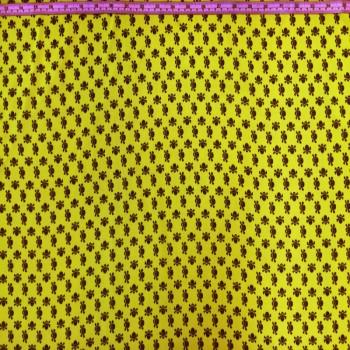 Neon Yellow Skull Chiffon