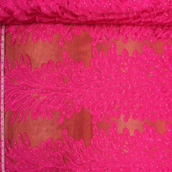 Embroidery Feather Pattern (Hot Pink)
