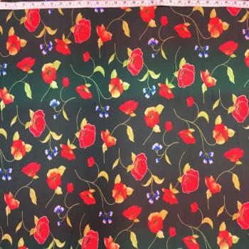 Printed Spandex (Flower Print)