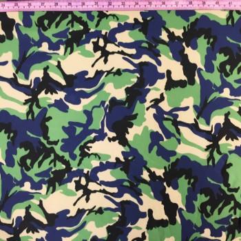 Blue Camo Print