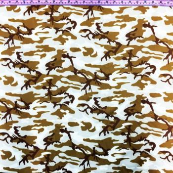 Nude Nylon Spandex Camo Print