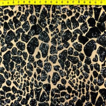 Black Sequins Crack Ice