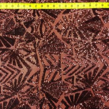 Stretch Sequins (Triangle Fabric - Burgundy)