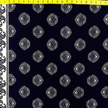 Navy Blue Clubs Fabric