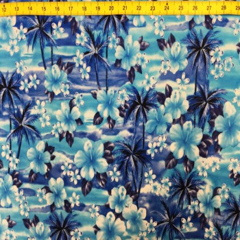 Blue Hibiscus ITY Print