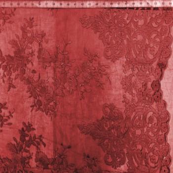 Burgundy Designer's Lace