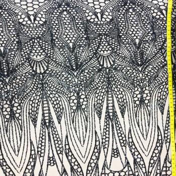 balmain sequins (black on nude)