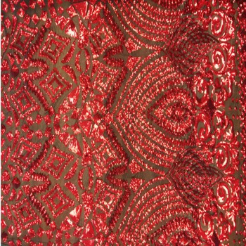 Costello sequins (Red on Black)