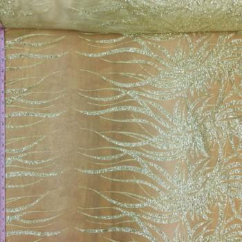 Champagne Glitter Stone Design