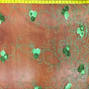 Green Floral Novelty Lace