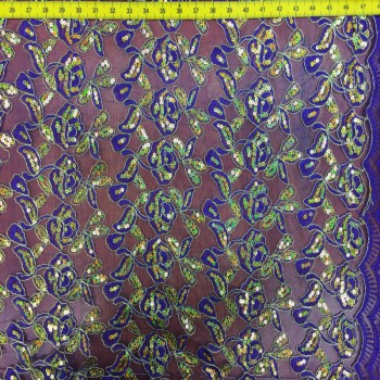 Purple Novelty Lace
