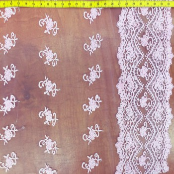 Baby Pink Novelty Lace