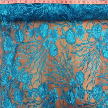 Blue Metallic Sequins