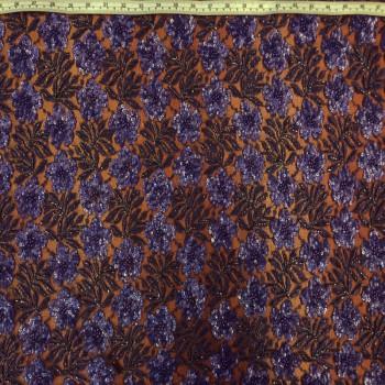 Floral Beaded Sequins (Dark Lavender)