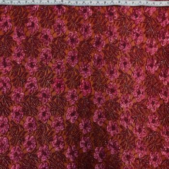 Floral Beaded Sequins (Mauve)