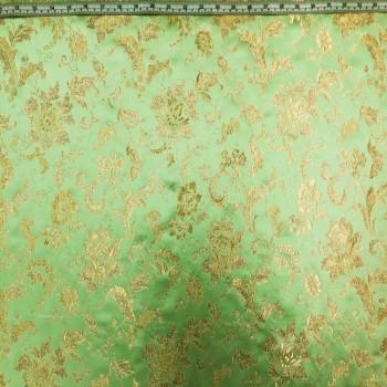 Mint Floral Brokate