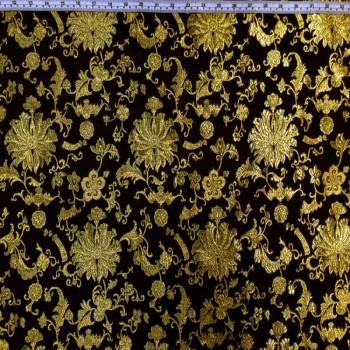 Black & Gold Royalty Brokate