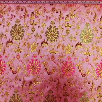 Pink & Green Floral Brokate