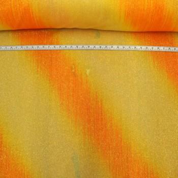 Faded Orange on orange glitter