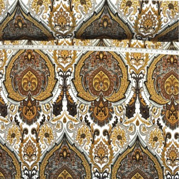Paisley damask (Dark brown)