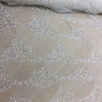 Hand beaded lace (white)