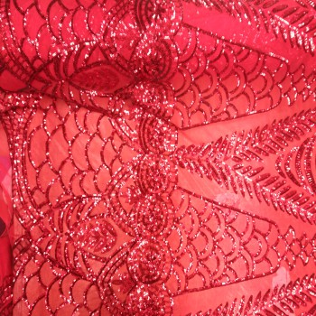 Stretch Sequin F (Red)